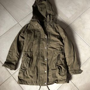 GAP 2 in 1 Olive Green Hooded Parka utility coat